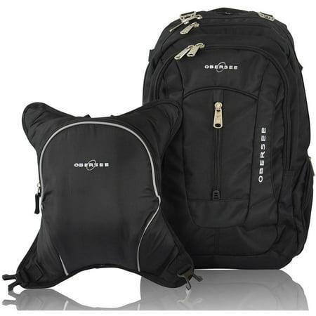 obersee bern diaper bag backpack and cooler black black. Black Bedroom Furniture Sets. Home Design Ideas
