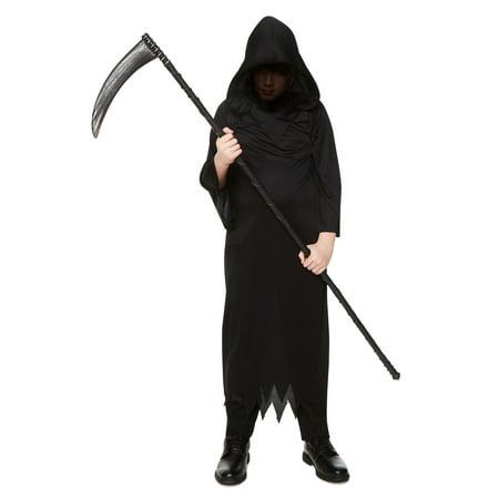 Grim Reaper Halloween Fancy Dress (Child Grim Reaper Costume)