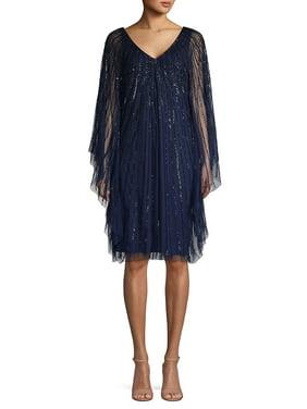 Embellished Sheer Party Dress