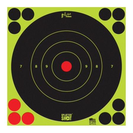 Pro-Shot Splatter Shot Bullseye Targets Peel And Stick 8 Inch Green 100 Pack by