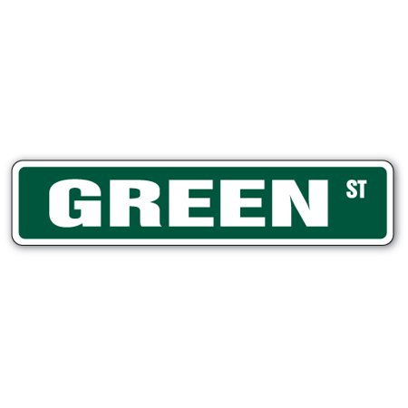 GREEN Street Sign room last name family environment | Indoor/Outdoor |  24
