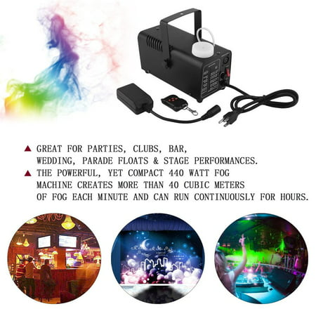 Smoke Machine With Remote Control Fog Machine Color Changing Smoke Ejector (M-kids Halloween Karaoke)