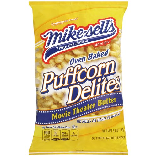Mike-sell's Oven Baked Movie Theater Butter Puffcorn Delites, 6 oz