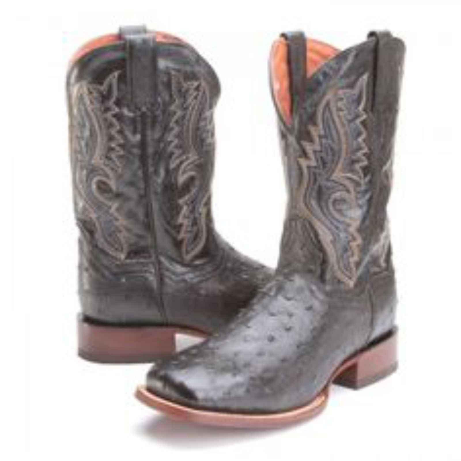 """Dan Post 13"""" Men's Arapaima Grey Black Western Boot, DP3934 by DAN POST"""