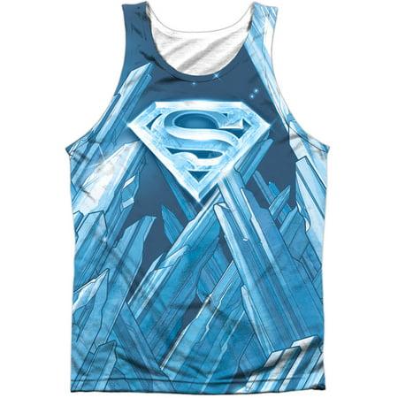 Superman Mens  Solitude Mens Tank White