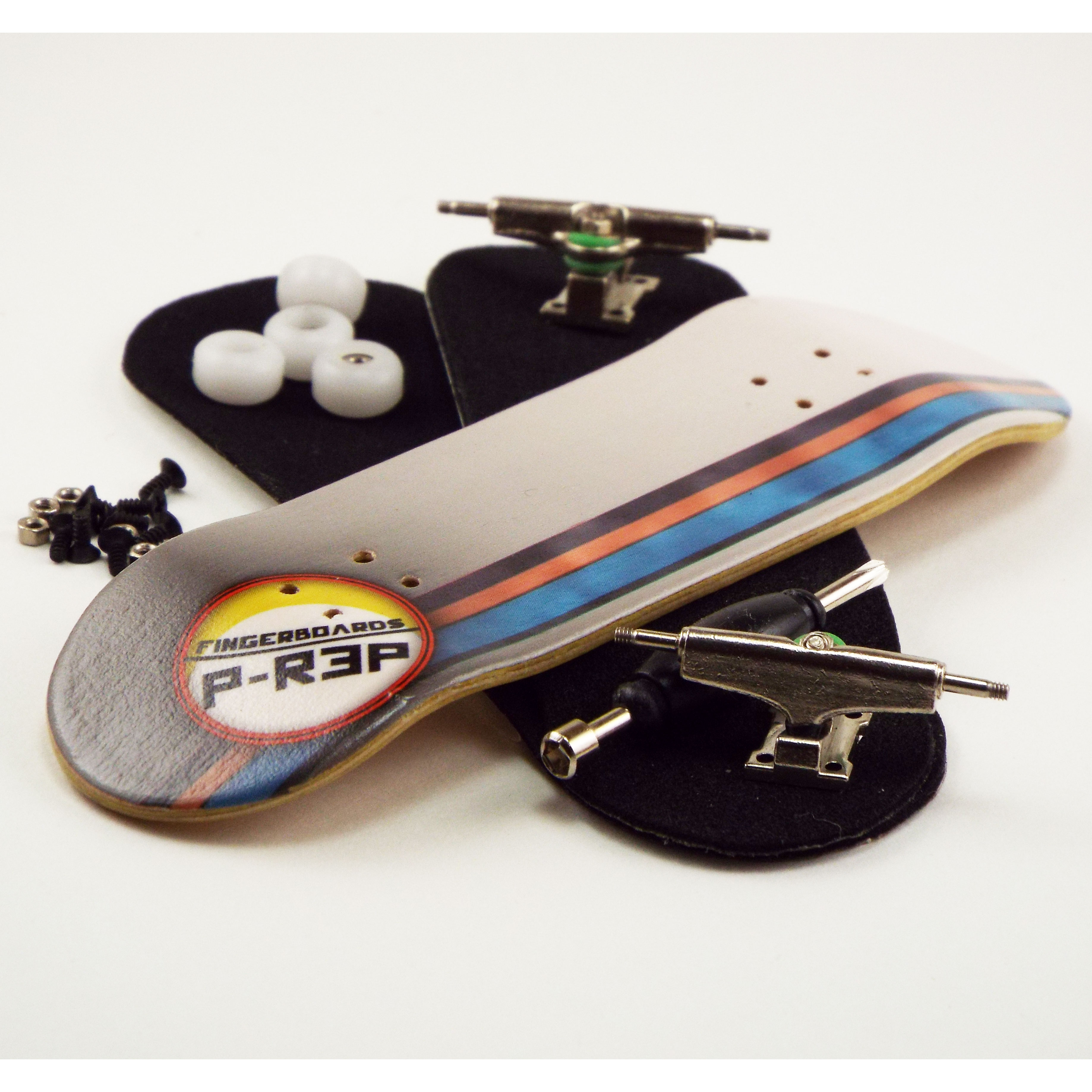 P Rep GT 30Mm Graphic Complete Wooden Fingerboard W CNC Lathed Bearing Wheels