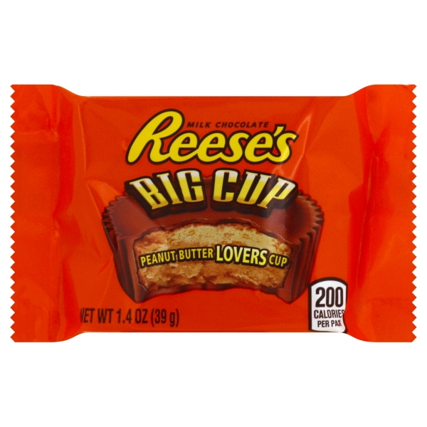 Reese's, Milk Chocolate Peanut Butter Big Cup Candy, 1.4 Oz