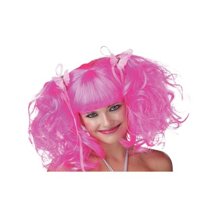 Wig Fun Pixie Hot Pink / Lavender / Purple Theatre Costumes Party - Pink Wigs For Sale