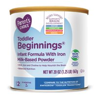 Parent's Choice Toddler Beginnings Infant Formula with Iron, 20 oz