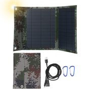 120W Monocrystalline Foldable Solar Panel with Dual USB Outputs Multi Multi Cable Adapter Type-C/Micro USB Port Compatible with Cell Phones Tablets and More