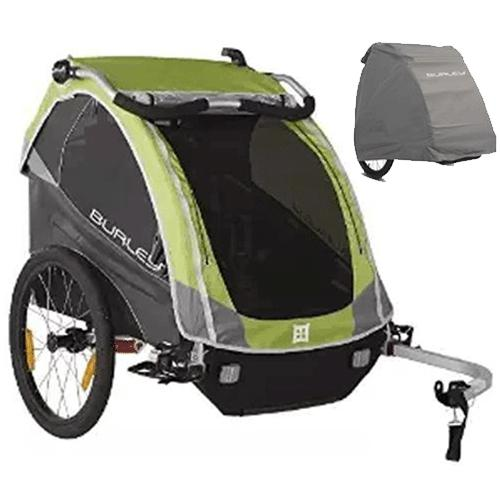 Burley 948304K D Lite Bike Trailer Green With Storage Cover