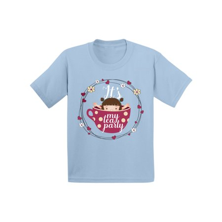 Awkward Styles Tea Party Shirt for Infant Tea Party Gifts Cute Tea Cup Tshirt for Kids It's My Tea Party T shirt Girls Themed Party Shirts Funny Birthday Gifts Little Girl in the Tea Cup T-shirt](Little Girls Birthday Themes)