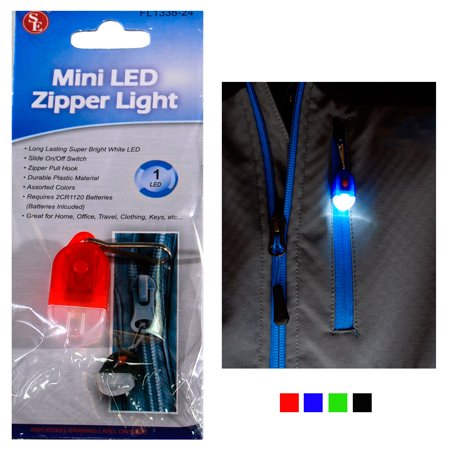 Mini Key Chain Flashlight Zipper Pull With LED Clip On Light Bright Torch Hook