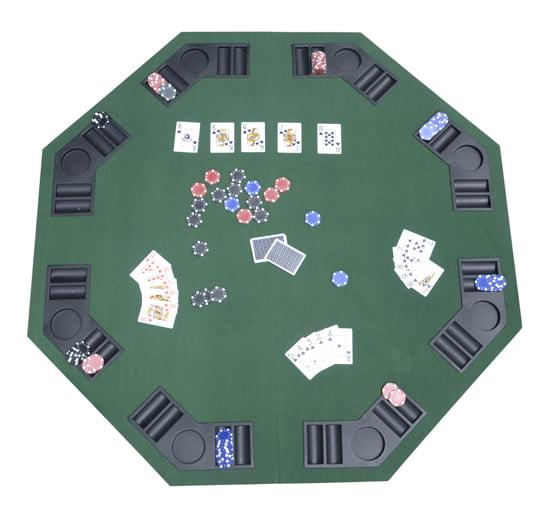 Aosom LLC HomCom Deluxe Foldable Card Game Table Top