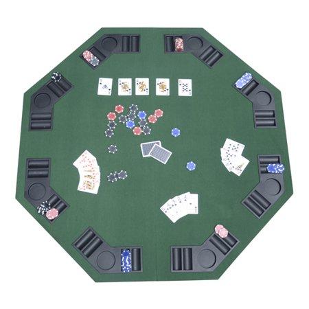 HomCom Deluxe Foldable Blackjack / Poker Table Top w/ Carrying Bag