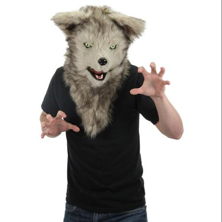 Elope Mouth Mover Wolf Mask - Half Wolf Mask