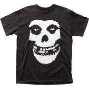 the misfits punk rock band distressed large skull logo adult t-shirt tee