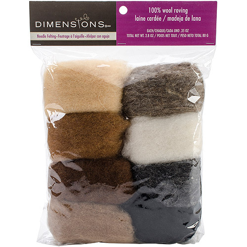 Dimensions 100% Wool Roving Value Pack Earthtone