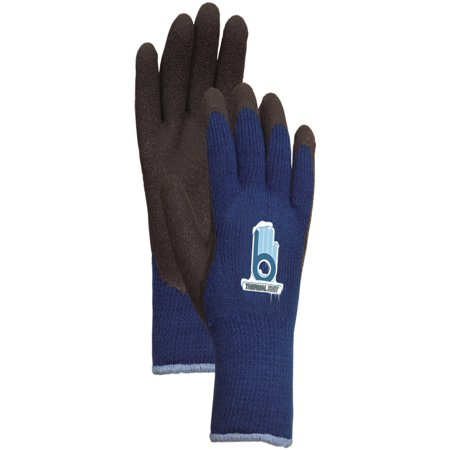 LFS Medium Blue Thermal Knit Gloves with Rubber