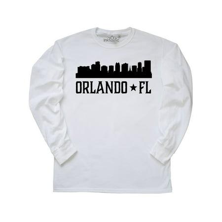 Orlando Florida Skyline City Long Sleeve T-Shirt (Best Weather Time In Orlando Florida)