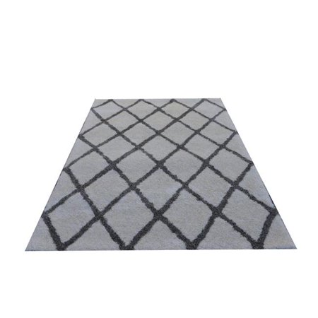 Noble House MORO2027999 7 ft. 9 in. x 9 ft. 9 in. Moro Rug, Cream & Grey - image 1 of 1