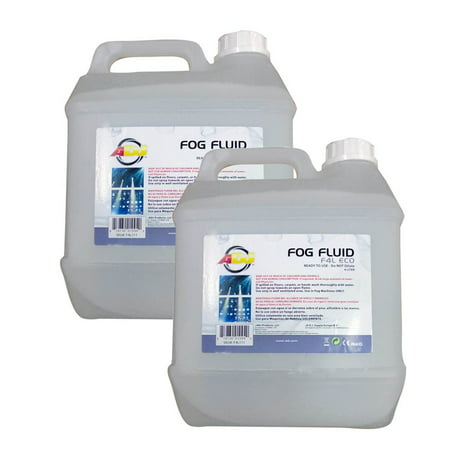 Fog Machine Liquid ((2)NEW AMERICAN DJ F4L ECO-FOG 4 Liter Bottles of Fog/Smoke Machine Liquid)