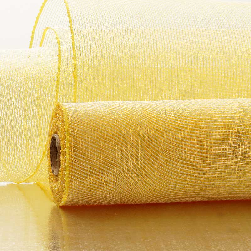 "21"" X 10 Yards Ivory/Gold Two Tone Deco Mesh by Paper Mart"