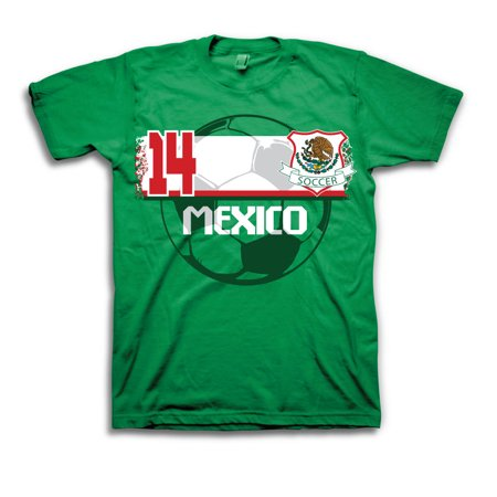 Mexico Soccer Team World Cup Mens Green T-Shirt  d2f4f192d