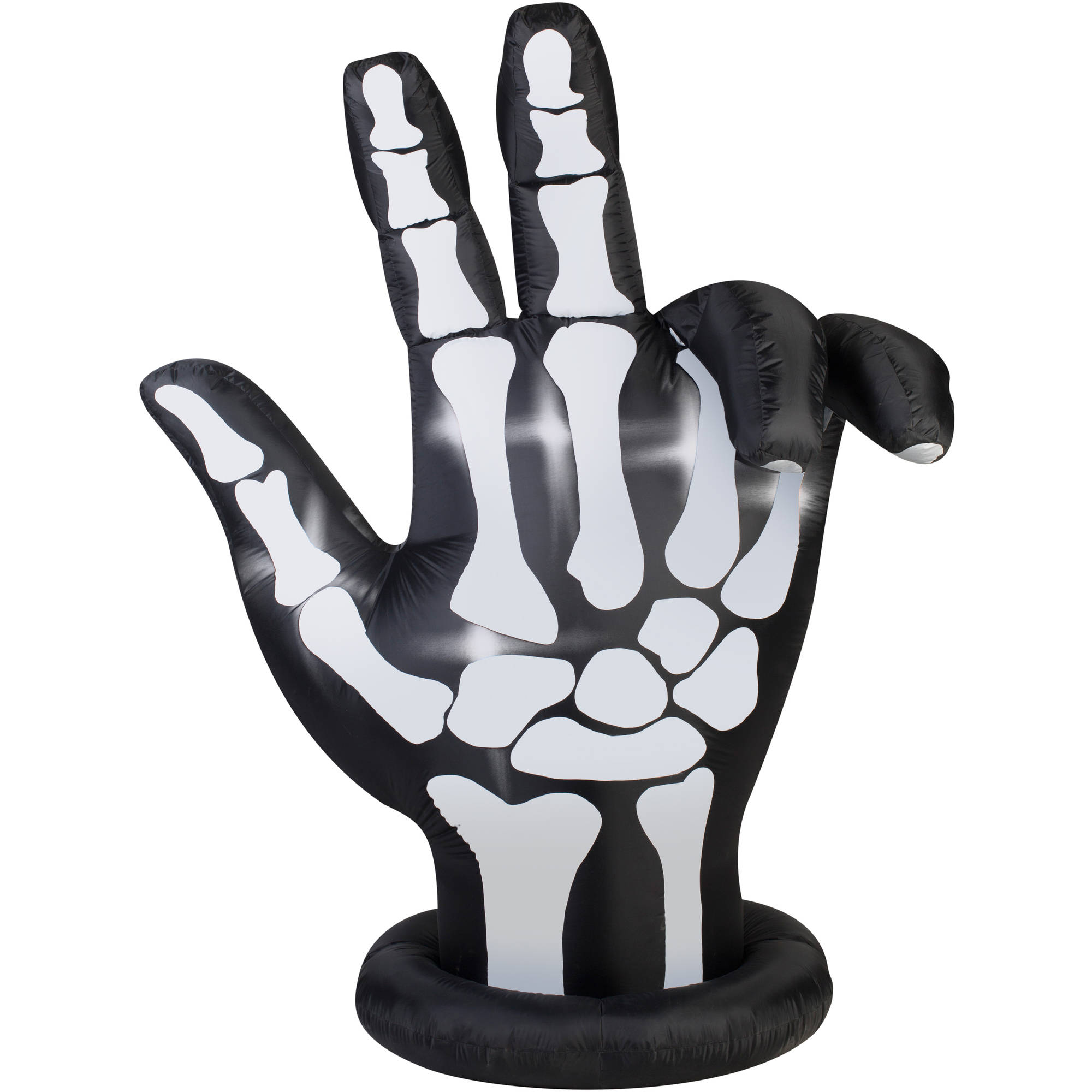 gemmy airblown inflatable 7 x 6 animated skeleton hand halloween decoration walmartcom - Skeleton Halloween Decoration