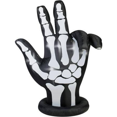 Gemmy Airblown Inflatable 7' X 6' Animated Skeleton Hand Halloween Decoration