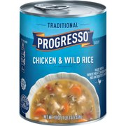 (4 pack) Progresso Traditional Chicken and Wild Rice Soup, 19 oz