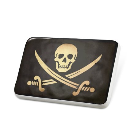 Porcelein Pin PirateFlag with a vintage look Lapel Badge – NEONBLOND