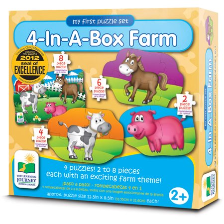 The Learning Journey My First Puzzle Set, 4-in-a-Box, Farm - Halloween Puzzles For 1st Grade