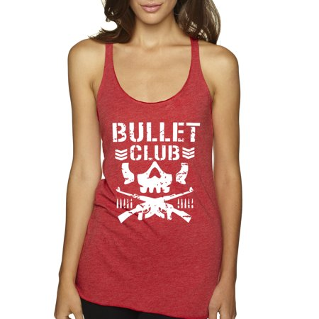 New Way 786 - Women's Tank-Top Bullet Club Skull Soldier Japan Pro Wrestling Medium Red ()