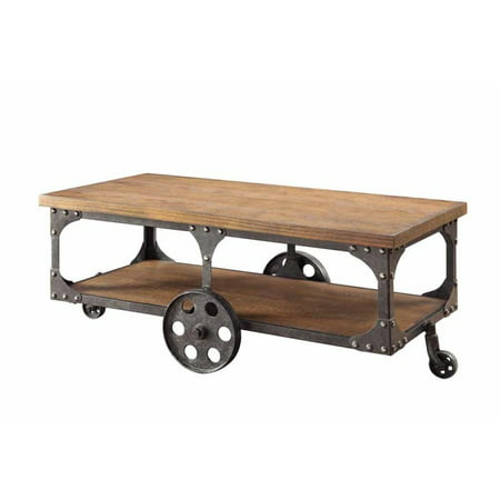 Coaster Home Furnishings Coffee Table with Casters Rustic Brown Coaster Home Furnishings Coffee Table with Casters Rustic Brown