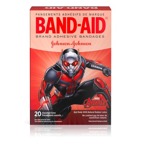 First Aid Only Plastic Bandages - Band-Aid Adhesive Bandages, Marvel Avengers, Assorted Sizes 20 ct