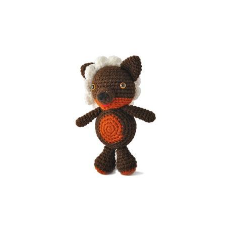 Brown Wolf Handmade Amigurumi Stuffed Toy Knit Crochet Doll VAC - Wolf Hands