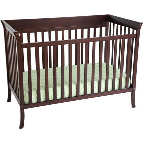 Ava 4-Piece Nursery Set, Espresso - Walmart.com