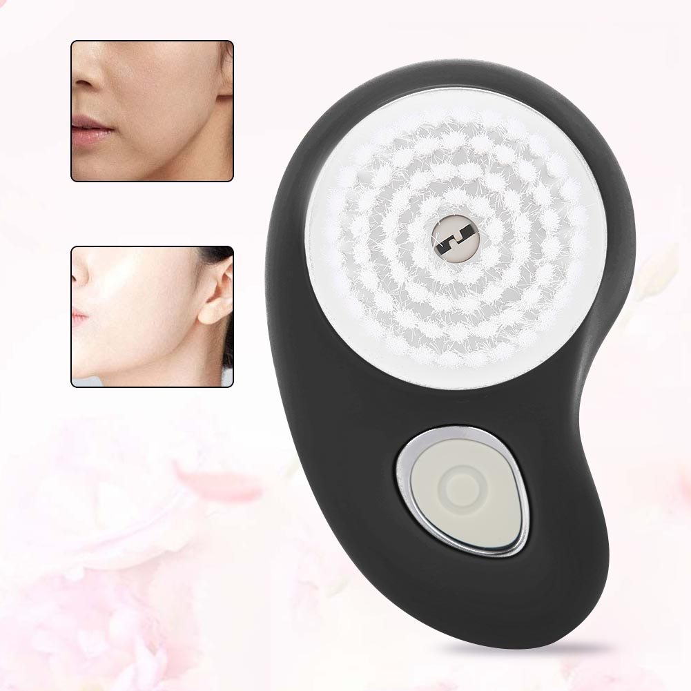 Multi-functional Electric Cleansing Brush USB Pore Cleaner Waterproof Cleaning Face Device With 2 Brush Heads,Waterproof Electric Cleansing Brush, Electric Face Brush