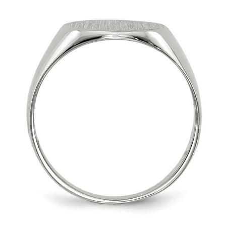 14K White Gold Signet Ring - image 2 of 5