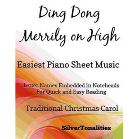 Ding Dong Merrily on High Easiest Piano Sheet Music - (Ding Dong Merrily On High Piano Sheet Music)