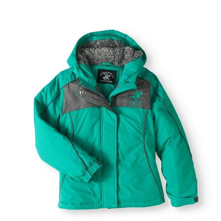 (Girls' Colorblock Hooded Jacket)