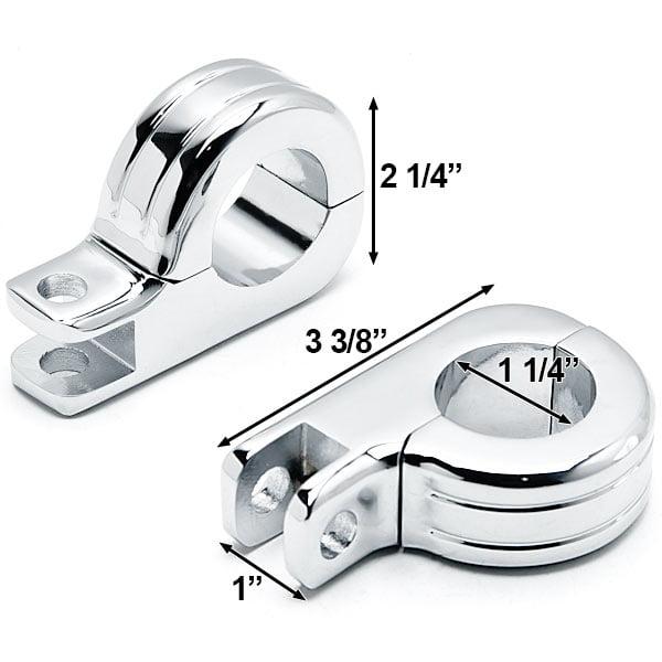 "Chrome 1-1/4"" Engine Guard Tube Bar Footpeg Clamps For Harley Softail Springer Clsc EFI FLSTSCI 2005-2006 - image 4 of 5"