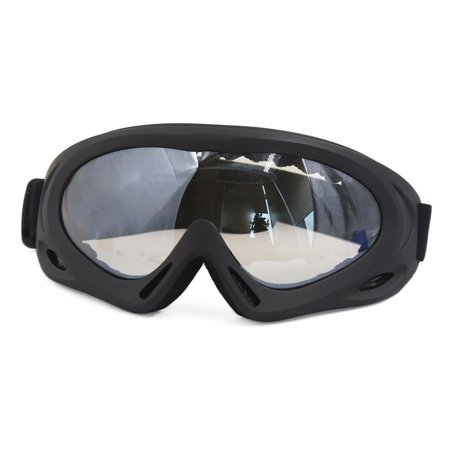 Unique Bargains Black Frame Clear Lens Elastic Strap Motocross Motorcycle Adult Goggles Glasses