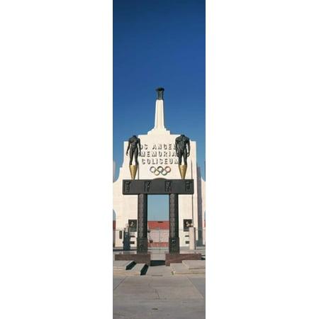 - Entrance of a stadium Los Angeles Memorial Coliseum Los Angeles California USA Canvas Art - Panoramic Images (15 x 5)