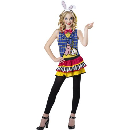 alice in wonderland white rabbit girls teen halloween costume - Girls Teen Halloween Costumes