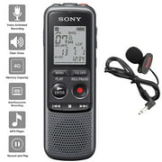 Sony Digital Voice Recorder ICD-PX Series, with Built-In Mic And USB, 4GB Memory, Noise Cut for noise-free recordings, Includes A NeeGo Lavalier Lapel Mic Can I use title above for the px240 voice rec