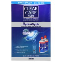 Clear Care Plus Contact Lens Cleaning and Disinfecting Solution, 2 Pack