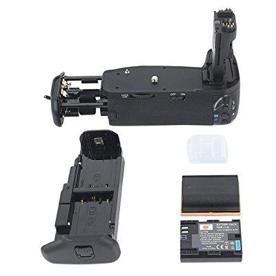 dste pro bg-e9 vertical battery grip + 2x lp-e6 lp-e6n for canon eos 60d 60da slr digital camera