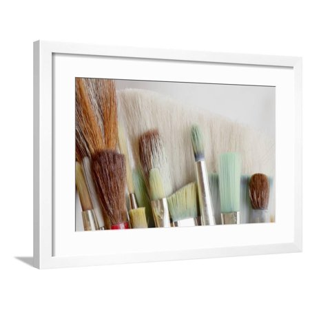 Close-Up of Artist's Brushes, Seabeck, Washington, USA Framed Print Wall Art By Jaynes Gallery